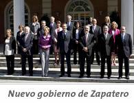 Composición del nuevo Gobierno de Zapatero